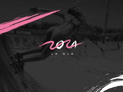 Lola Swimwear typography typeface type brush calligraphy lettering surfing illustrator vector wave logo branding