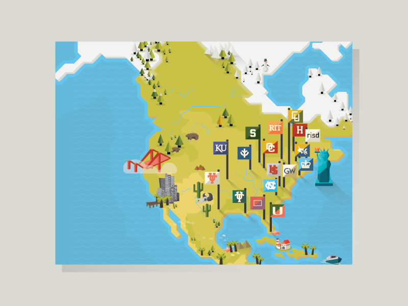 Co-workers university maps by brico on Dribbble