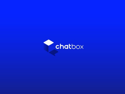 Chatbox gradient shape typography illustration vector box chat logo