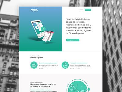 Landing for banking multi platform app product page landing page visual design gradient web ui