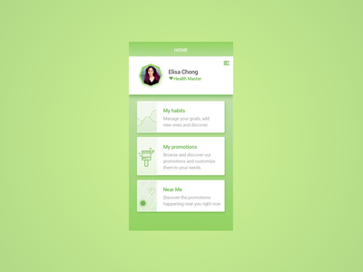 Habits and promotions material ux gradient app ui