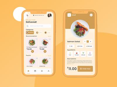 Fooder APPS typography mobile design mobile app app ux ui mobile ui design branding