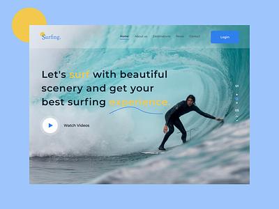 Header - Surfing. designui productdesign landingpage webdesign graphic design ui typography ux design branding
