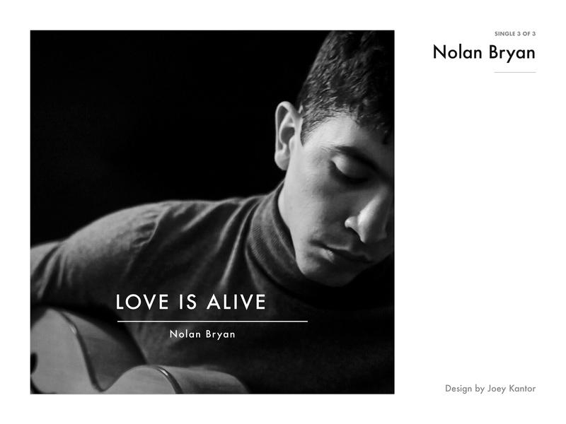 Nolan Bryan - Single 3 of 3 music art album art design
