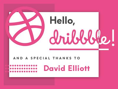 Hello Dribbble! invitation debut thank you hello hello dribbble first shot