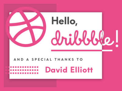 Hello Dribbble! invitation debut thank you hello hello dribbble first shot