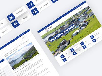 Porkeris kommunu | Communication organization organization website web design logo design minimal ux ui