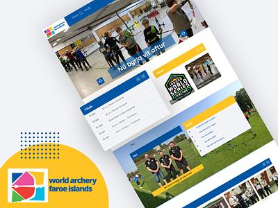 World archery Faroe Islands app design flat web faroe islands typography logo design sports archery sport ui ux