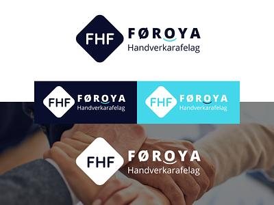 Føroya Handverkarafelag Logo Design vector illustration flat design branding app ui ux faroe islands faroe føroya handverkarafelag fhf logo design logo