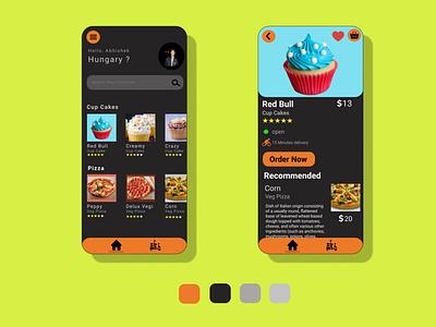 Food App design illustration ui ux