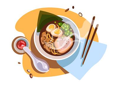 Ramyeon ramyeon foodillustration food ai vector design illustration