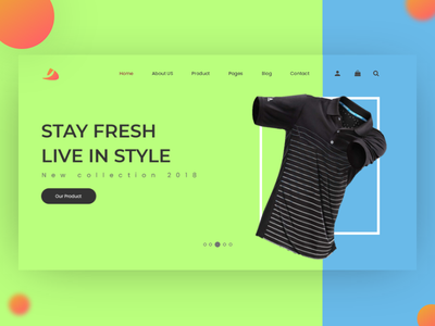 Ecom Header. design minimal website illustration typography vector wordpress ecommerce fashion