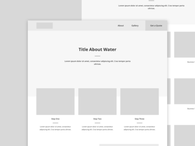 Water Bottle Sales Wireframes
