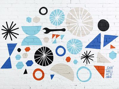 Hello Bicycle mural murals bikes bicycle painting pattern illustration branding mural