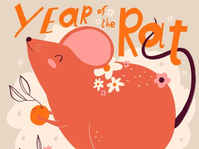 Year of the Rat illustrations animals cute drawing year of the rat lunarnewyear illustration
