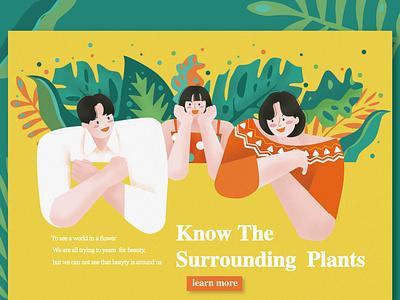 Surrounding web app illustration design