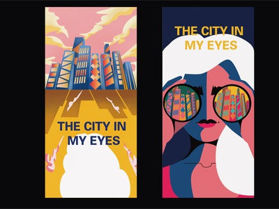 the city in my eyes design illustration