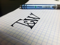 T&W Logo Sketch