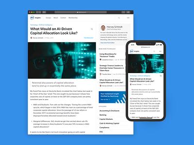 Financial News Platform article story web responsive news finance