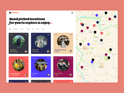 Local Guide Site concept tips chinese colors guide map local travel