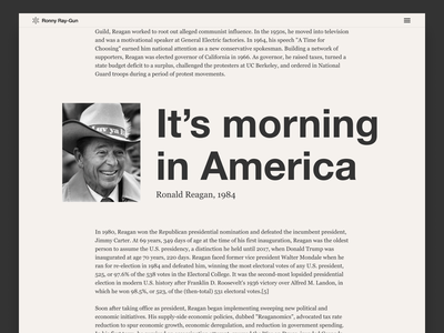 Callouts experiment web ui america politics typography callout layout grid