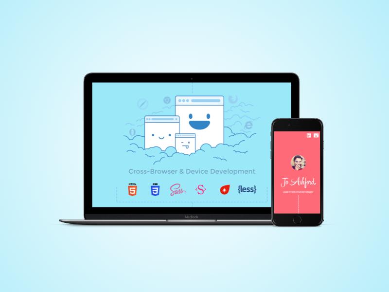 Dev portfolio platform responsive browser illustration portfolio developer