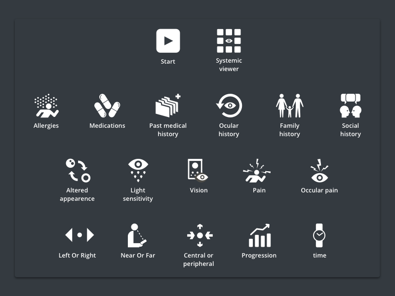 Ocular icons set icons medical