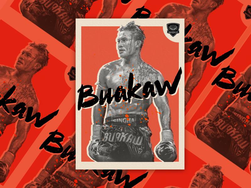 Buakaw - Muay Thai Card thai boxing halftone card