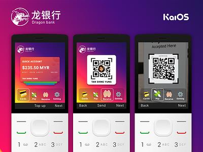 KaiOS Banking Concept cards qr payments bank button phone kaios