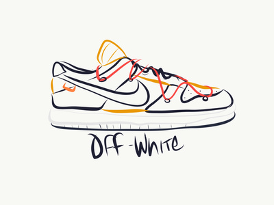 Nike Dunk Off-White orlando dunk virgil abloh hand drawn vectors logo design logotype typography vector logo branding lineart design ipad sneakerhead sneaker nike illustration