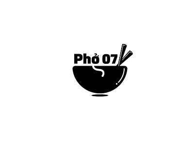407! logotype vectors soup design logo design branding florida vector illustration black and white food pho orlando logo