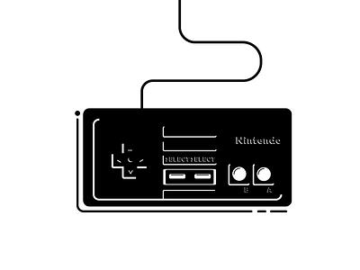Nintendo logo design logo adobe vectors gamer controller game design game branding video games nintendo black and white illustration vector