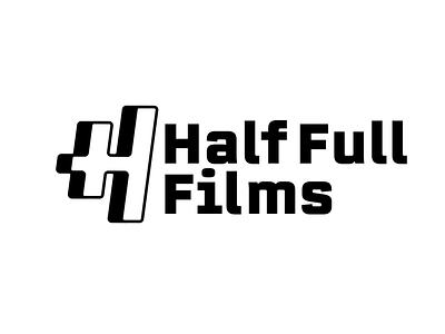 Half Full Films identity branding illustrator typography black and white illustration film logotype type logo vector logo design