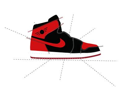 Air Jordan 1 vectors logo shoe line sneaker airjordan branding sneakerhead nike jordan design illustration vector