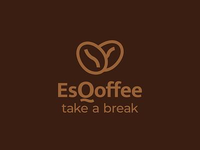 EsQoffee logo design branding coffee graphic design vector logo