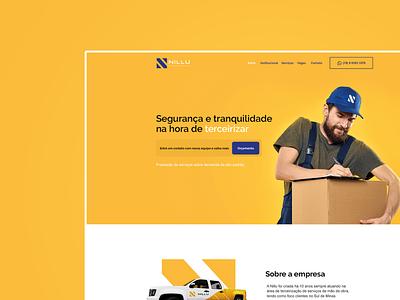 Nillu Layout Web branding logo app ui ui ux ui design design concept