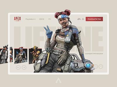 Apex Legends Ui Concept apex ui ux ui concept battle royale lifeline apex legends