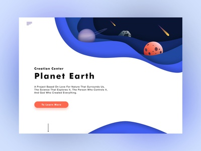 Creation Center  Planet Earth ui web illustration design