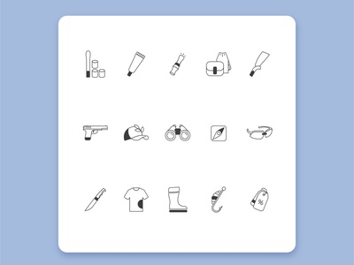 Hunter Market Icons design vector ui icon
