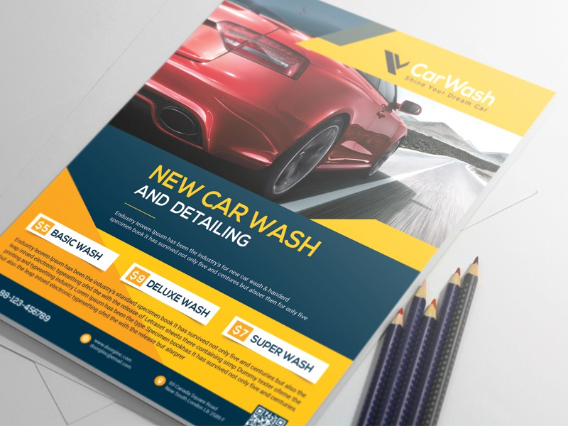 Car Wash Flyer By Alauddin Sarkar Dribbble