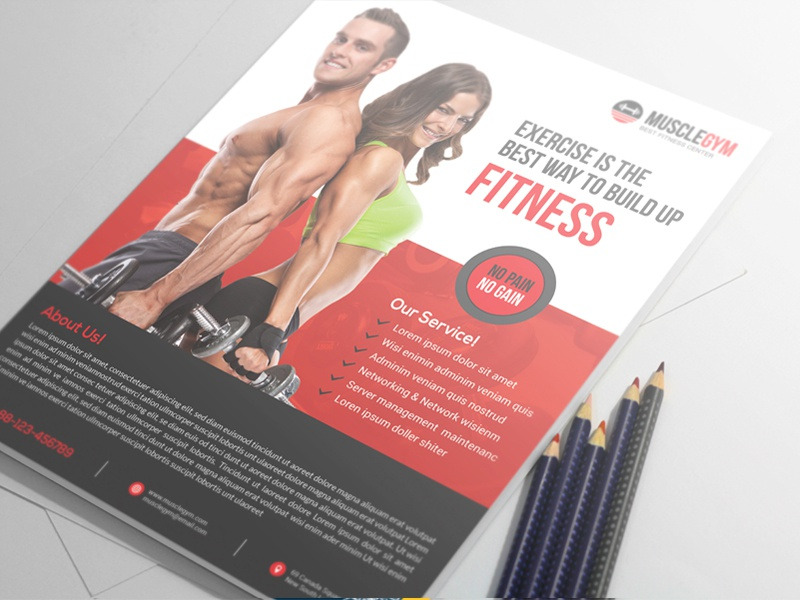 Fitness Flyer By Alauddin Sarker  Dribbble