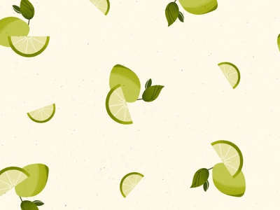 "Pattern ""Lime"" patterns lime fruit challenge juicy texture illustrator illustration"