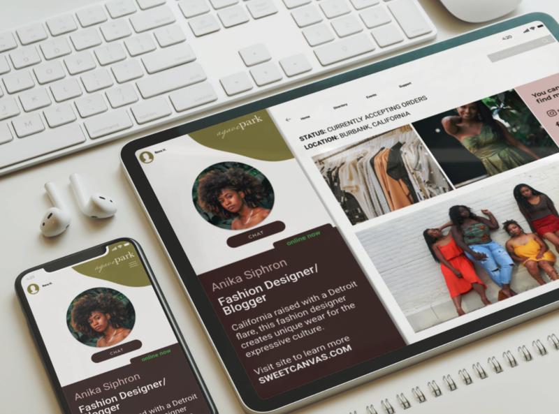 AgavePark Networking App design app design