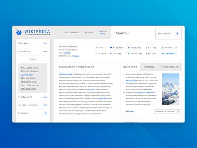 wiki page design concept. figma concept wikipedia wiki web design web