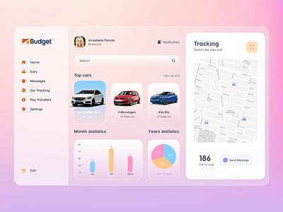 Rent a car dashboard design daily uidesign web webdesign branding design ui ux design web design ui design