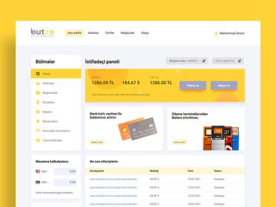 Butex - Online Cargo Dashboard UI/UX design web webdesign design ux design web design ui design saas dashboard