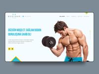 Fitness club web site design