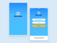 Bank of Baku application login page design