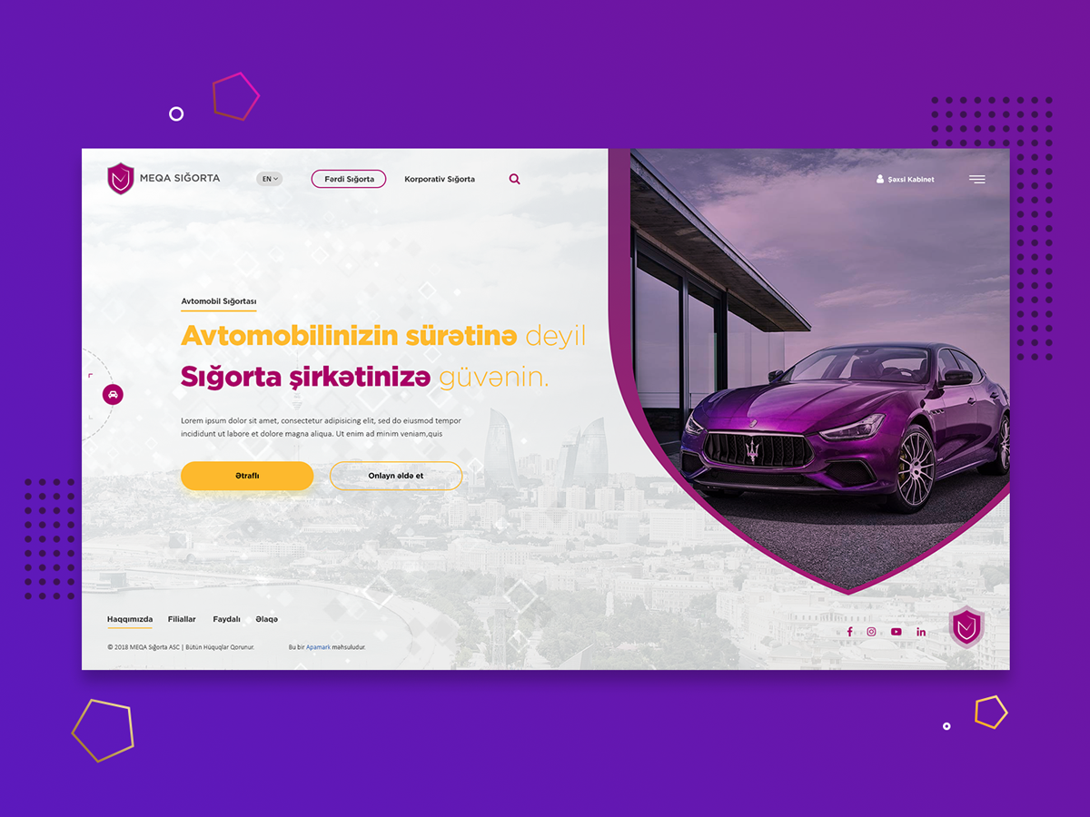 Meqa Sigorta incurance company web design project insurance mega webdesign web design ux design ui design web design