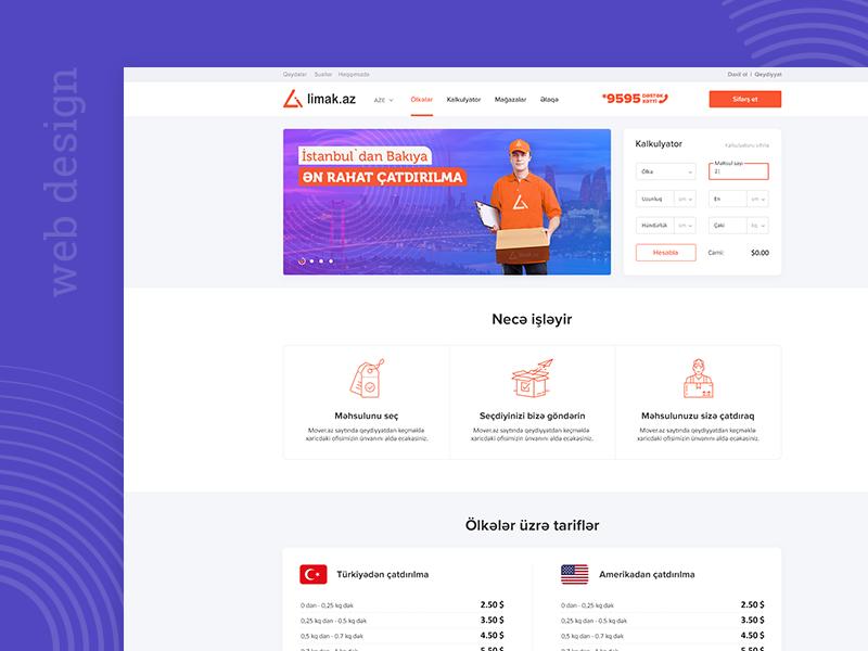 Limak.Az delivery company web design design ui webdesign web ux design ui design web design